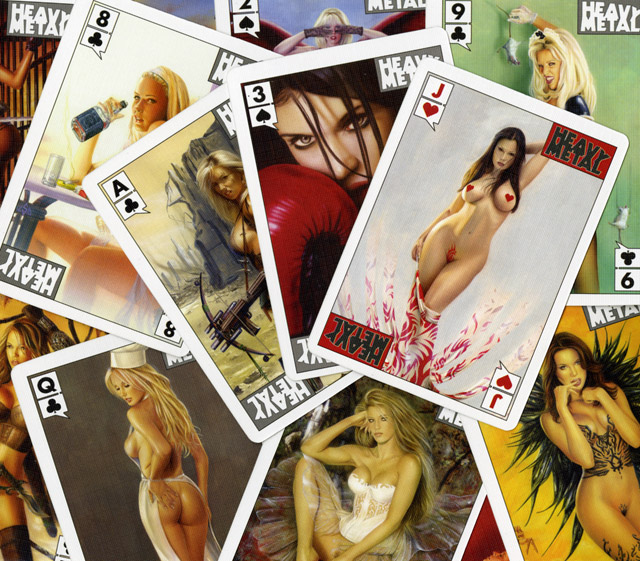 HEAVY METAL - PLAYING CARDS